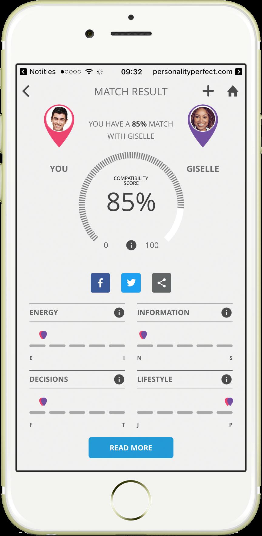 Match com personality test
